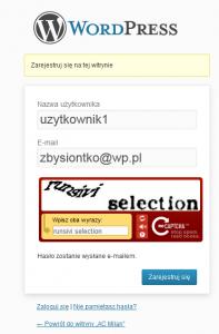 Rejestracja konta