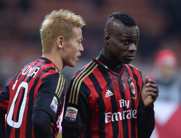Mario Balotelli i Keisuke Honda
