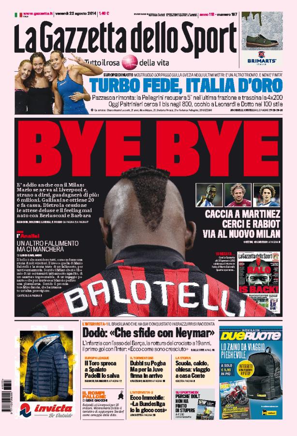 Balotelli odchodzi